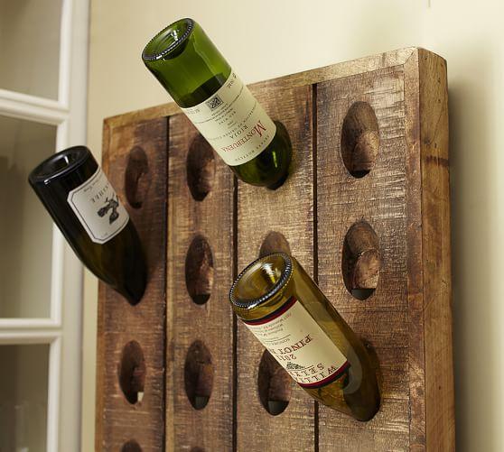 french wine bottle riddling rack pottery barn On pottery barn wine rack wood