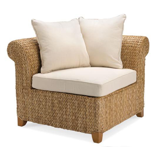 Seagrass Corner Chair, Havana Dark