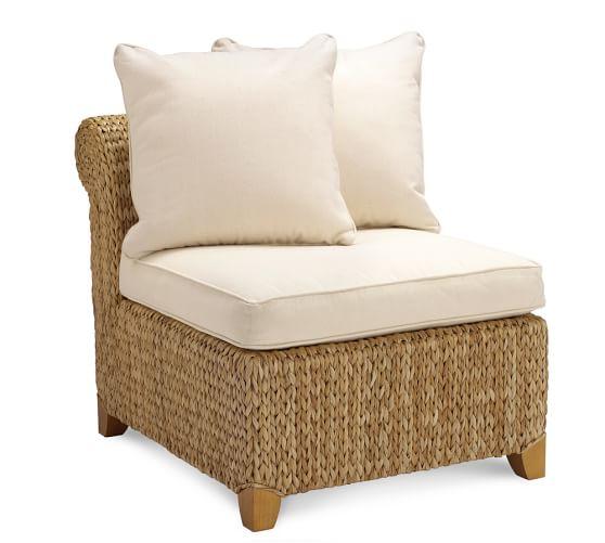 Seagrass Armless Chair, Havana Dark
