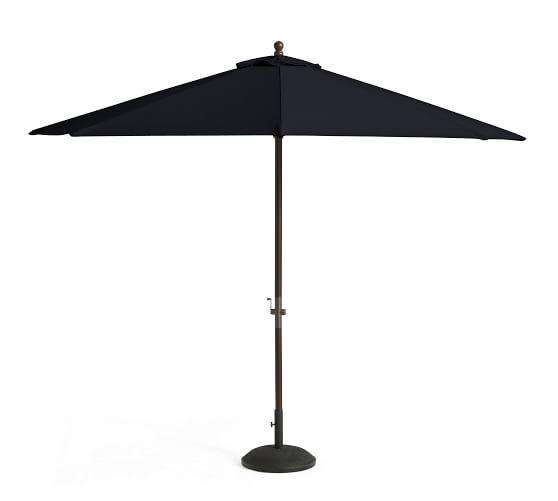 round sunbrella umbrella canopy 11 39 pottery barn. Black Bedroom Furniture Sets. Home Design Ideas