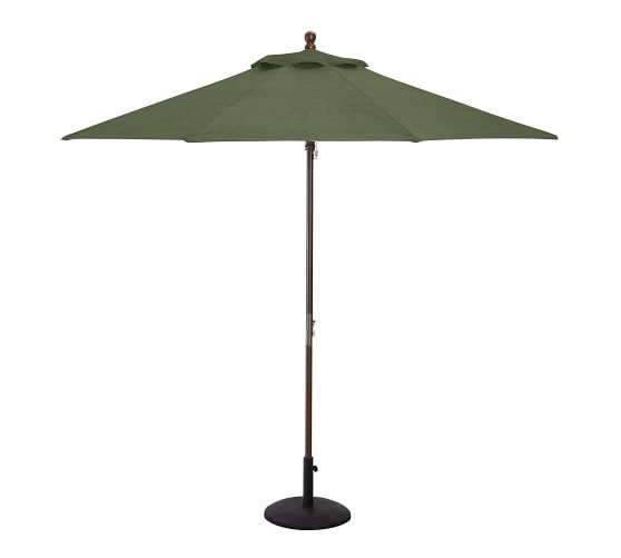 round sunbrella umbrella canopy 9 39 pottery barn. Black Bedroom Furniture Sets. Home Design Ideas