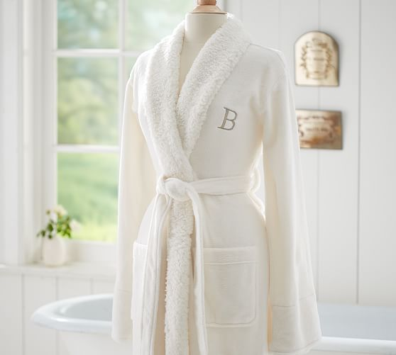 cozy sherpa robe pottery barn
