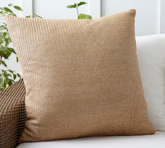 Faux Natural Fiber Indoor Outdoor Pillow Pottery Barn
