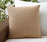 Faux Natural Fiber Indoor/Outdoor Pillow, 18