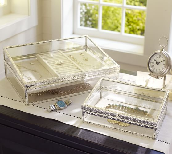 antique silver jewelry boxes pottery barn