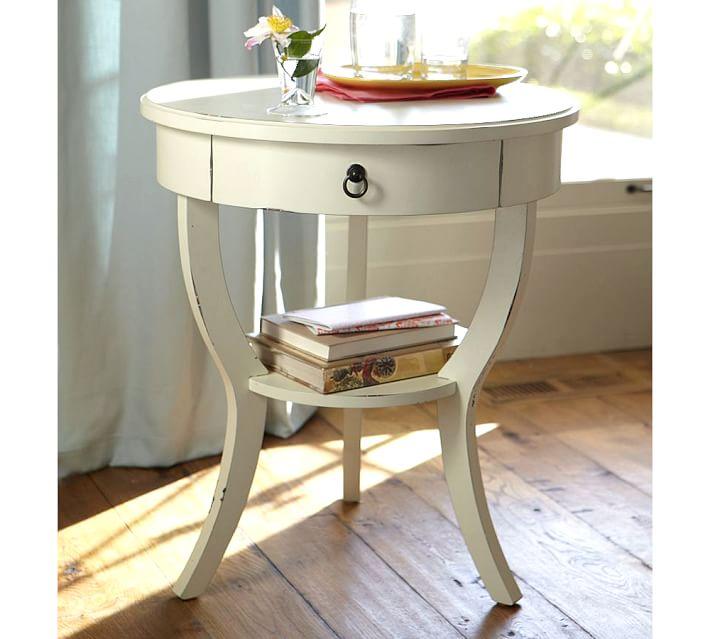 Carrie Pedestal Bedside Table | Pottery Barn