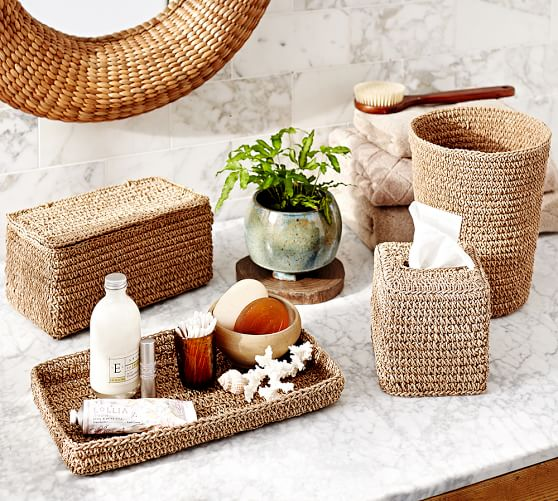 Crochet Weave Bath Accessories Pottery Barn