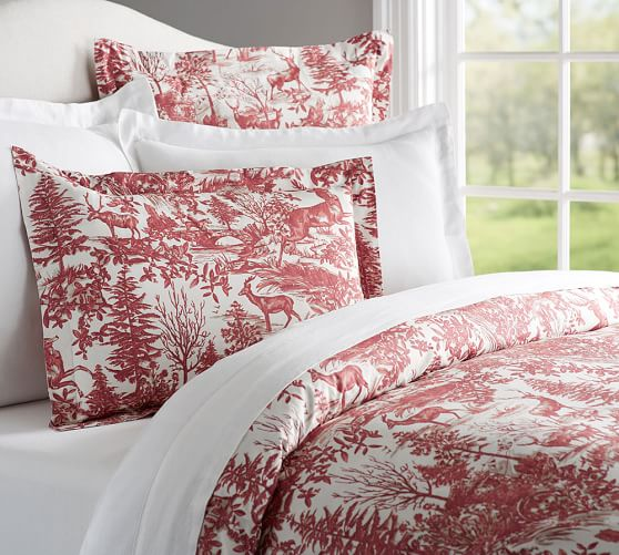 Alpine Toile Duvet Cover Amp Sham Pottery Barn