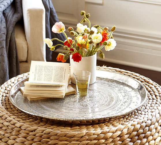 Silver Hammered Tray Pottery Barn