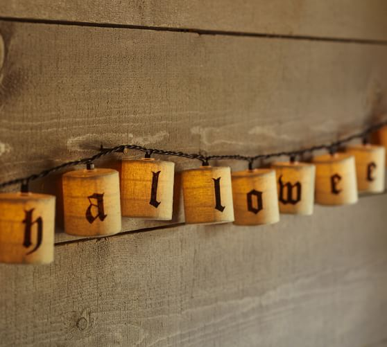 Mini Lantern String Lights Pottery Barn : Happy Halloween String Lights Pottery Barn