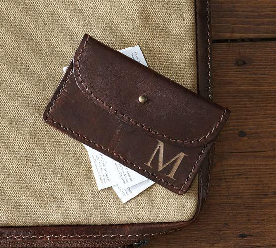 Saddle Leather Business Card Holder