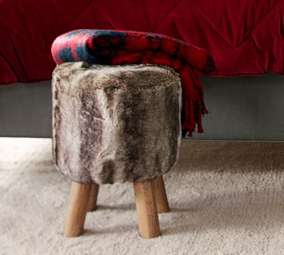Faux Fur Stool Pottery Barn