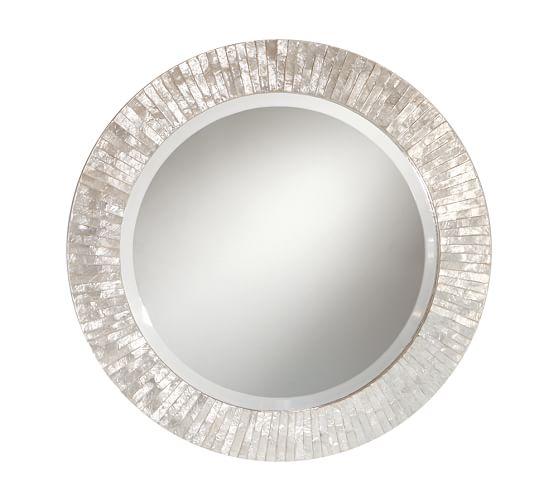 Miranda Capiz Round Mirror Pottery Barn