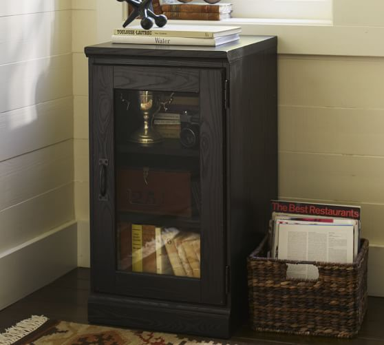 Printer S Single Glass Door Cabinet Pottery Barn