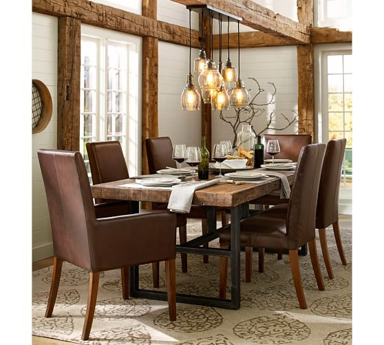 Griffin Reclaimed Wood Dining Table & Grayson Chair 7