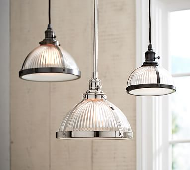pb classic pendant ribbed glass pottery barn. Black Bedroom Furniture Sets. Home Design Ideas