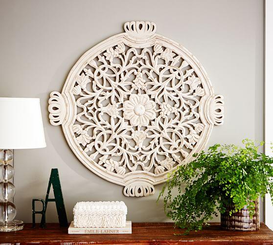 Teal Medallion Wall Decor : Floral wall medallion pottery barn