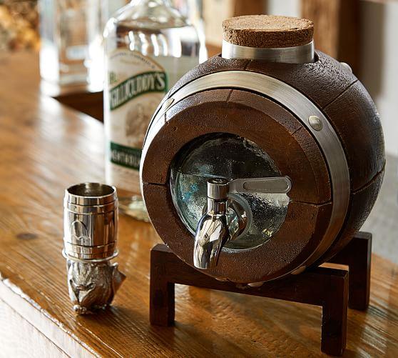 Barrel Whiskey Drink Dispenser Amp Stand Pottery Barn