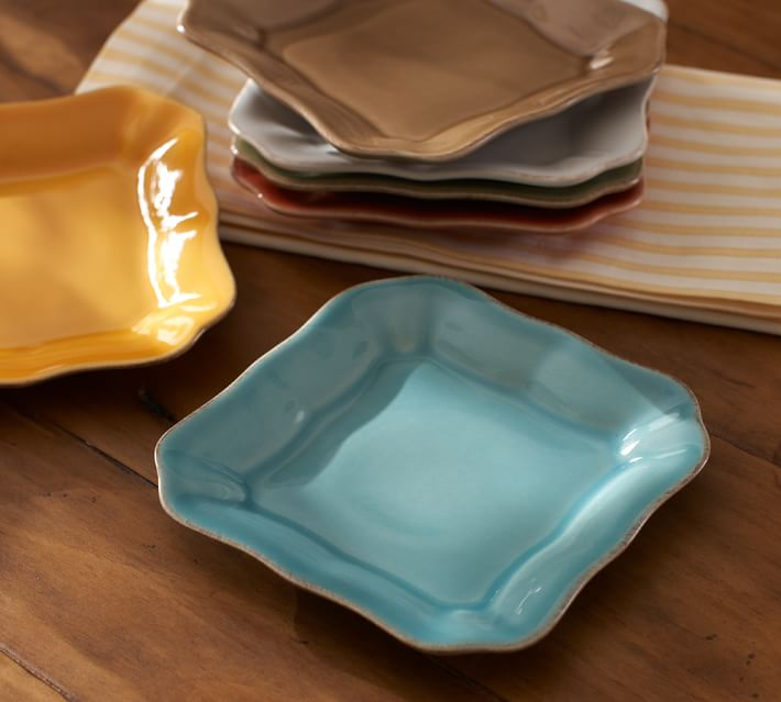 Cambria Tidbit Plate, Set of 4 - Ocean Blue