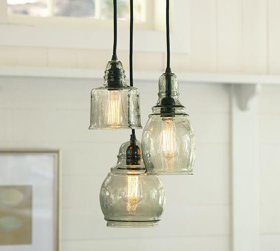 Kitchen Pendant Lighting Pottery Barn: Paxton Glass 3-Light Pendant