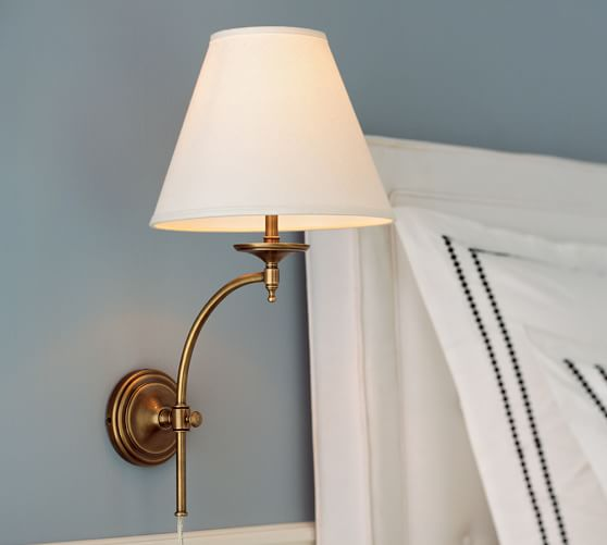 Wall Sconces Used : Weston Arc Sconce Pottery Barn
