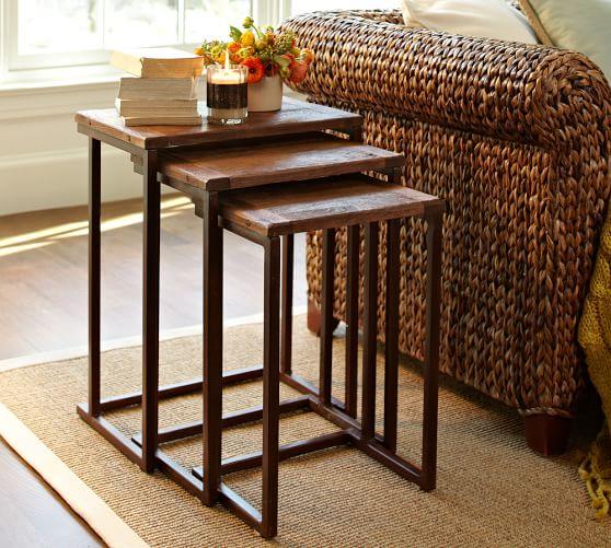 Wood Nesting Tables ~ Granger nesting side tables pottery barn