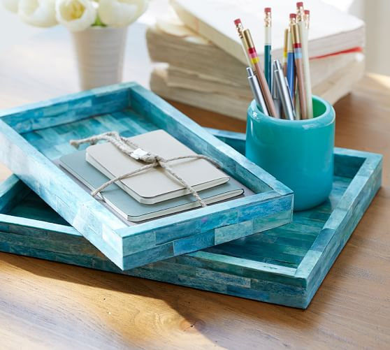 turquoise desk accessories pottery barn