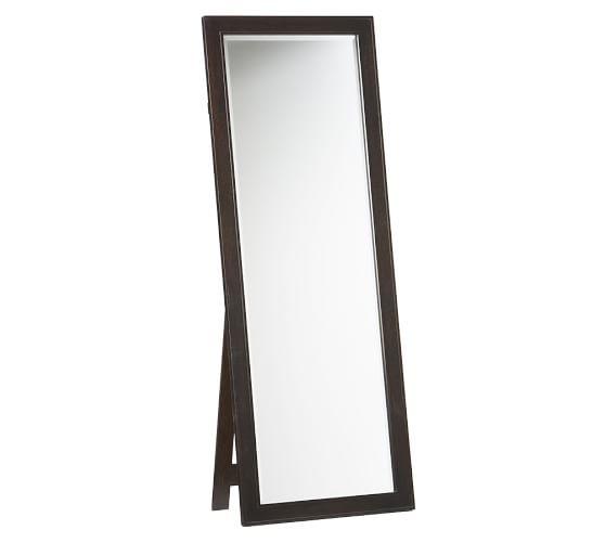 Classic floor mirror pottery barn for Wood floor length mirror