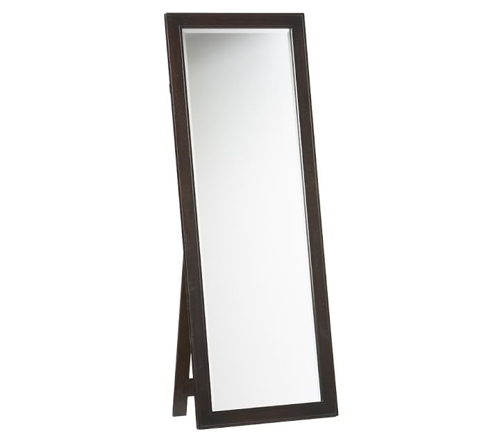 Image Of Carousel 18Inch X 64Inch Floor Mirror In Black