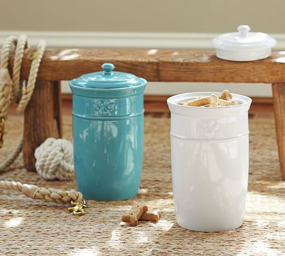 cambria pet treat canister pottery barn
