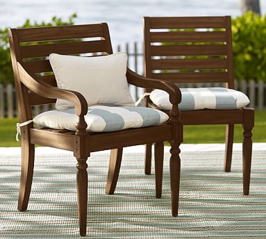 faraday dining chair cushion pottery barn. Black Bedroom Furniture Sets. Home Design Ideas