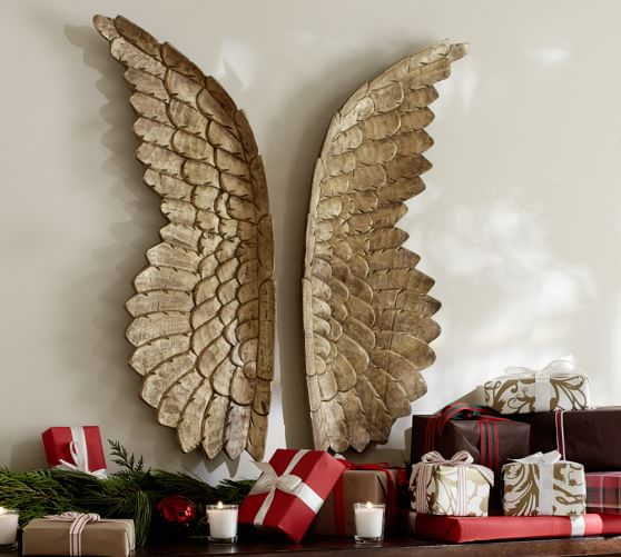 Golden Carved Wood Wings Pottery Barn