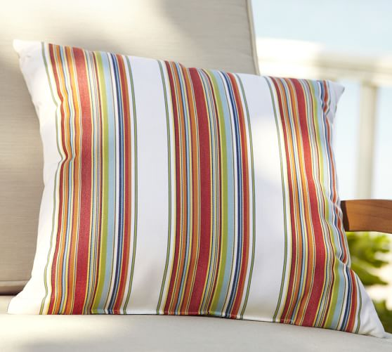 Sunbrella® Multi Stripe Indoor/Outdoor Pillow | Pottery Barn