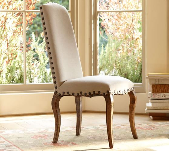 calais upholstered side chair pottery barn. Black Bedroom Furniture Sets. Home Design Ideas