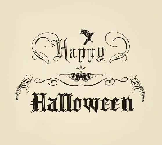 Happy Halloween Wall Decal Pottery Barn