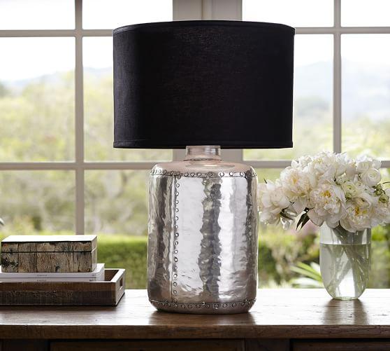 nielson rivet table lamp base pottery barn. Black Bedroom Furniture Sets. Home Design Ideas
