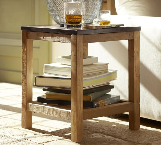 Ikea Coffee Table Cubby Holes: Connor Side Table - Limestone