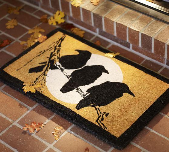 Crow Amp Moon Doormat Pottery Barn