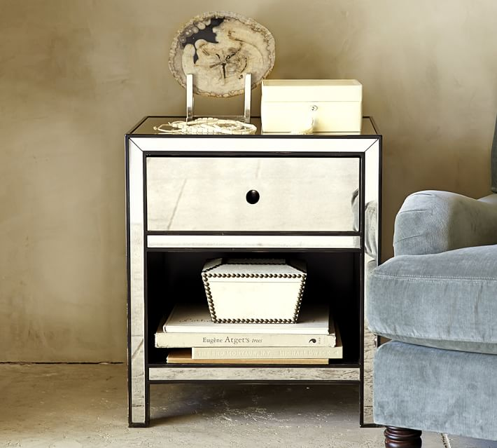 marnie mirrored bedside table bedroom furniture bedside cabinets mirror antique