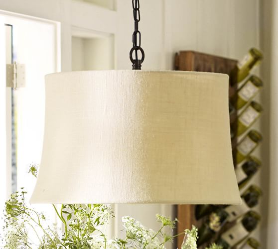 drum pendant replacement shades pottery barn. Black Bedroom Furniture Sets. Home Design Ideas