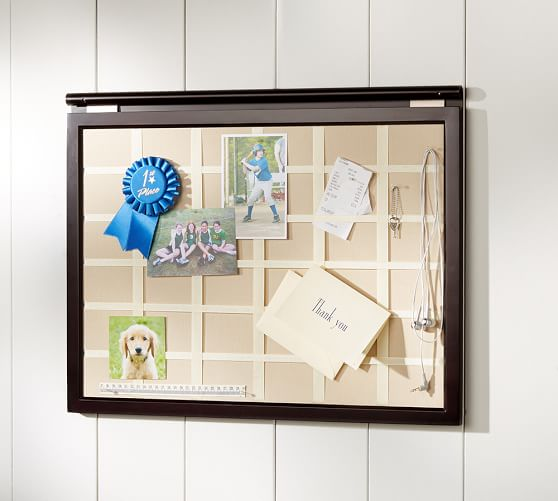 Daily system linen pinboard pottery barn for Linen cork board