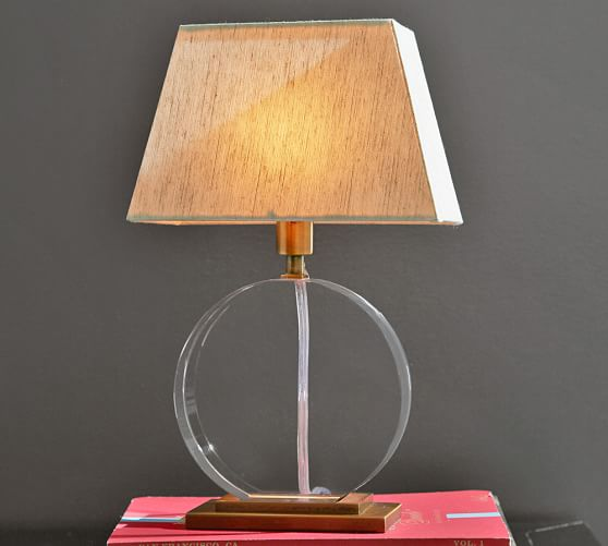 Pottery Barn Vintage Desk Lamp: Montclair Crystal And Brass Accent Lamp