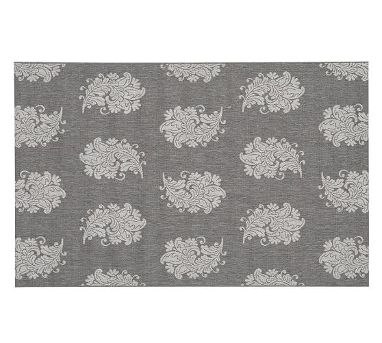 Paisley Jacquard Indoor Outdoor Rug Neutral