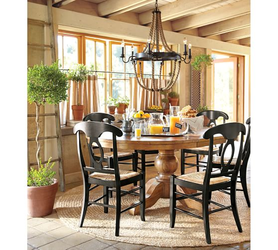 sumner extending pedestal table napoleon chair 5 piece