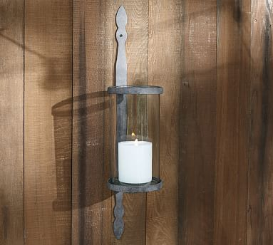Galvinized Metal Candle Sconce Pottery Barn