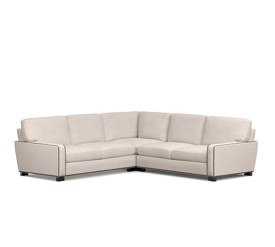 Turner Square Arm Upholstered 3 Piece L Shaped Sectional