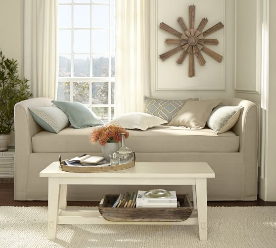 Lewis Slipcovered Daybed Pottery Barn