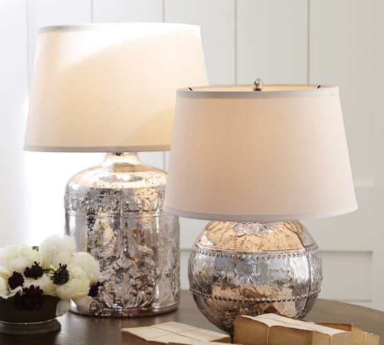 marley antique mercury glass table lamp bases pottery barn. Black Bedroom Furniture Sets. Home Design Ideas