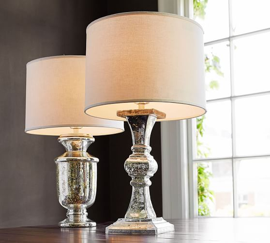 everleigh mercury glass lamp base pottery barn. Black Bedroom Furniture Sets. Home Design Ideas