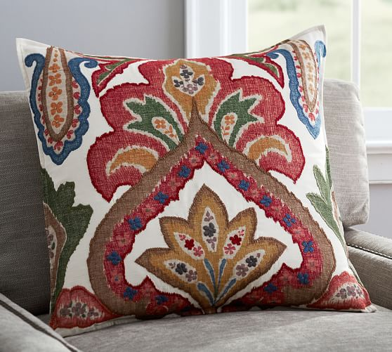 Pottery Barn Decorative Pillow Covers : Sullivan Ikat Pillow Cover Pottery Barn